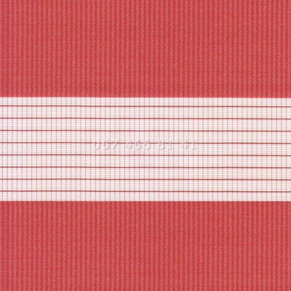 Тканевые ролеты Besta Uni с плоскими направляющими День-Ночь BH Red 1804