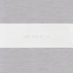 Тканевые ролеты Besta Uni с П-образными направляющими День-Ночь BH Silver 81-10, фото 2