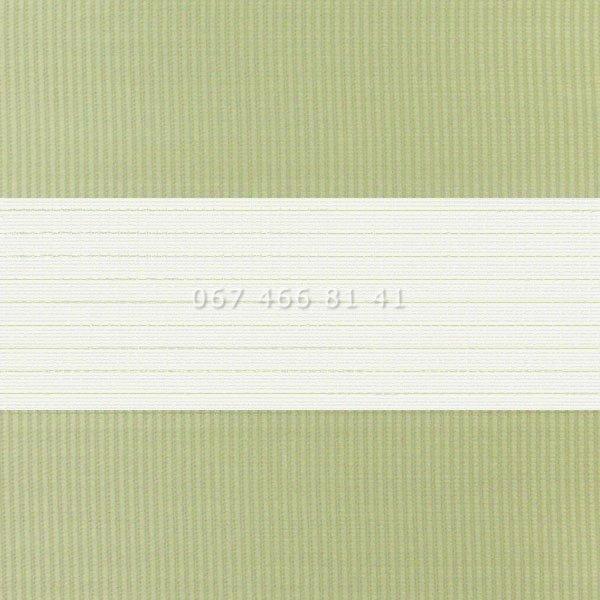 Тканевые ролеты Besta Uni с плоскими направляющими День-Ночь BH Phistache 03
