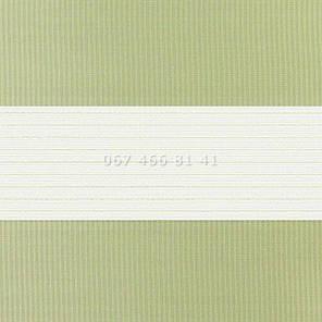 Тканевые ролеты Besta Uni с плоскими направляющими День-Ночь BH Phistache 03, фото 2