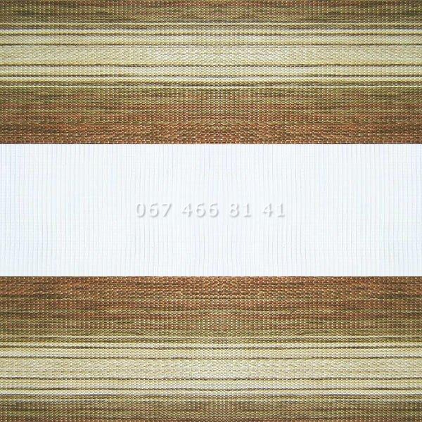 Тканевые ролеты Besta Uni с П-образными направляющими День-Ночь BH Copper 603