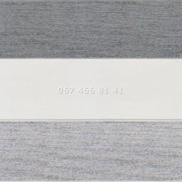 Тканевые ролеты Besta Mini День-Ночь BH BlackOut Silver-Grey 113-2