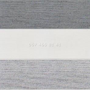 Тканевые ролеты Besta Mini День-Ночь BH BlackOut Silver-Grey 113-2, фото 2