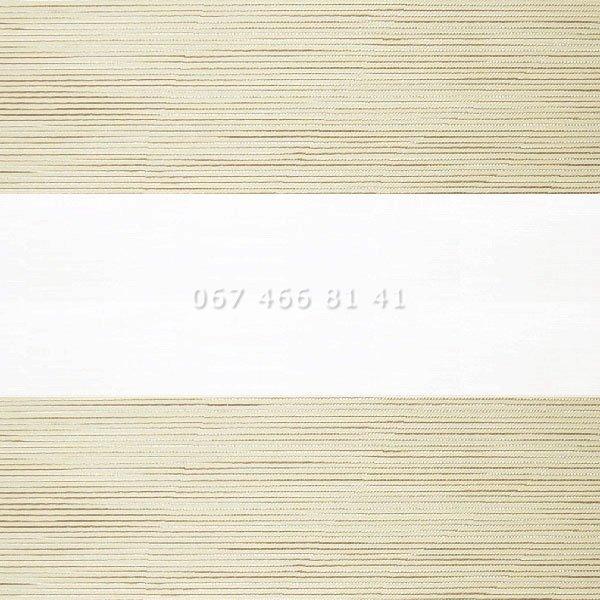 Тканевые ролеты Besta Uni с плоскими направляющими День-Ночь BH Cream 103