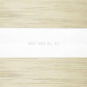 Тканевые ролеты Besta Uni с плоскими направляющими День-Ночь BH Cream 103, фото 2