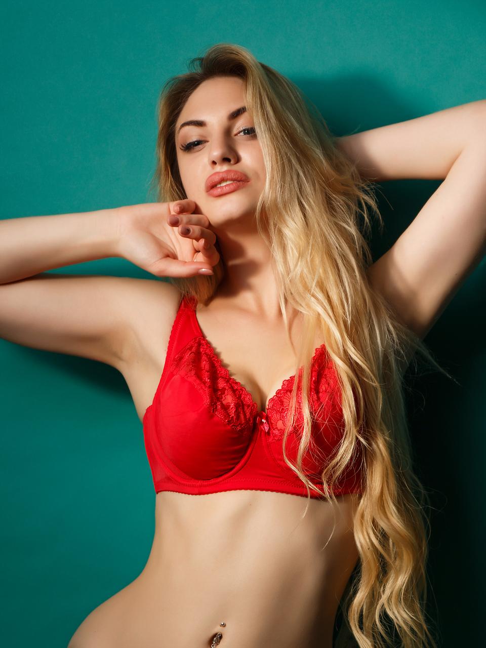 Бюстгальтер Diorella 38006D, цвет Красный, размер 80D