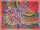 Шерстяной платок в народном стиле, красный, фото 4