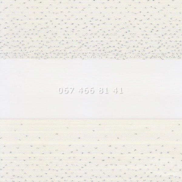 Тканевые ролеты Besta Uni с плоскими направляющими День-Ночь BH Vanilla 115-2