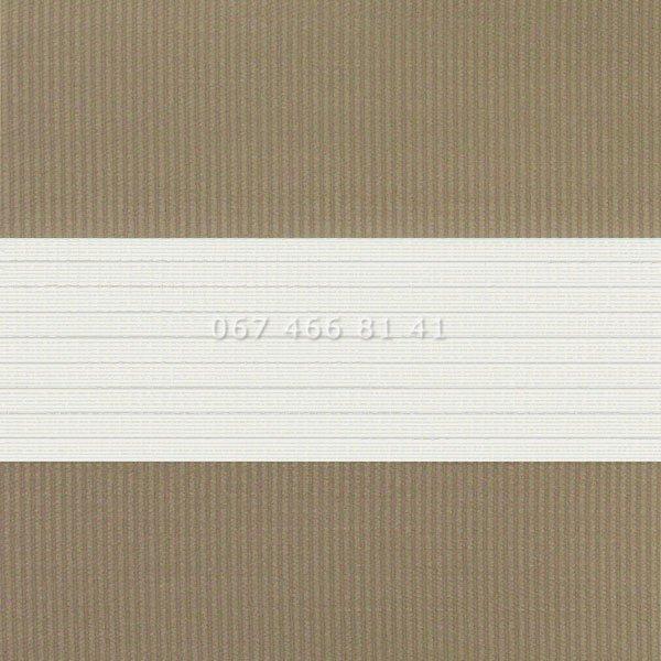 Тканевые ролеты Besta Uni с плоскими направляющими День-Ночь BH Latte 02