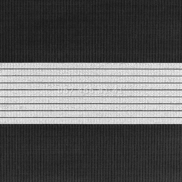 Тканевые ролеты Besta Uni с плоскими направляющими День-Ночь BH Black 07