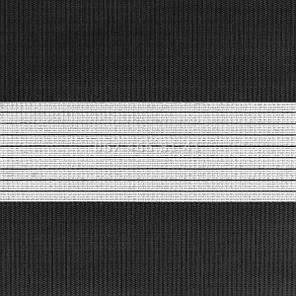 Тканевые ролеты Besta Uni с плоскими направляющими День-Ночь BH Black 07, фото 2