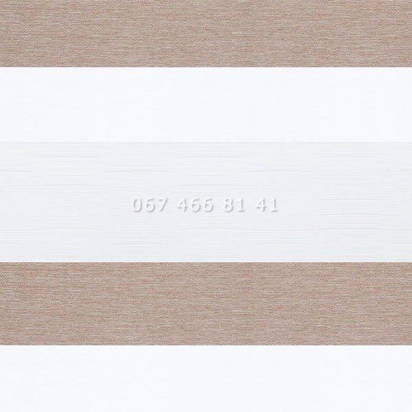 Тканевые ролеты Besta Uni с плоскими направляющими День-Ночь BH Mushroom 503