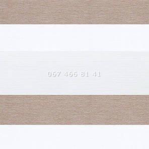 Тканевые ролеты Besta Uni с плоскими направляющими День-Ночь BH Mushroom 503, фото 2