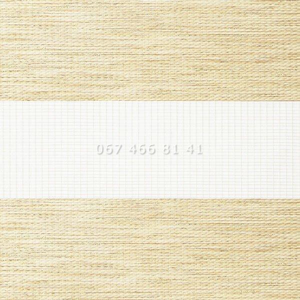 Тканевые ролеты Besta Uni с П-образными направляющими День-Ночь BH Cream 33