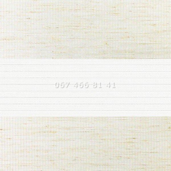 Тканевые ролеты Besta Uni с плоскими направляющими День-Ночь BH Flax 08