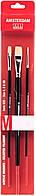 Набір пензлів для акрила та олії AMSTERDAM, синтетика, плоска, М, Серія 600, довга ручка, Royal Talens 9096009