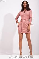 Стильное молодёжное мини-платье из замши, со шнуровкой и накладными карманами  S, M, L  размер, фото 2