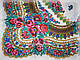 Шерстяной платок в народном стиле, молочный, фото 4