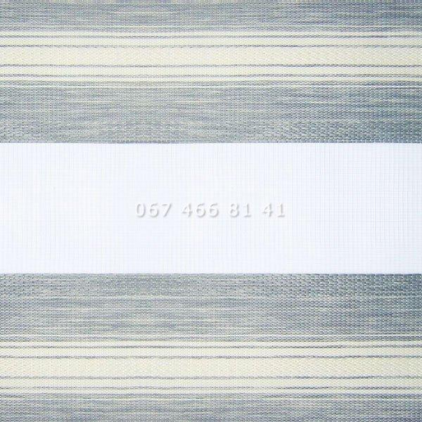 Тканевые ролеты Besta Uni с плоскими направляющими День-Ночь BH Silver 602
