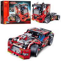 Конструктор машинка грузовик / суперкар Decool 2в1 606 деталей