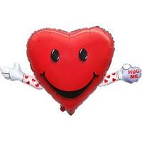 Фольгированный шар Сердце Обними меня 63см х 103см Красный