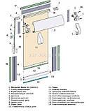 Тканевые ролеты Besta Uni с плоскими направляющими Royal Powder 812, фото 3