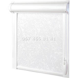 Тканевые ролеты Besta Uni с плоскими направляющими Frost White 01, фото 2