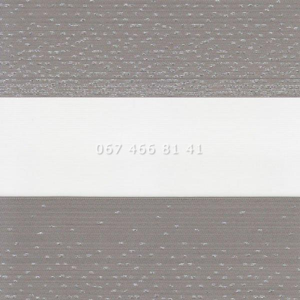 Тканевые ролеты Besta Uni с П-образными направляющими День-Ночь BH Grey 115-5