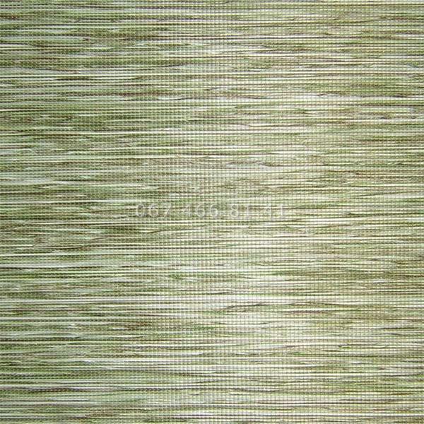 Тканевые ролеты Besta Uni с П-образными направляющими Natural Green 5104
