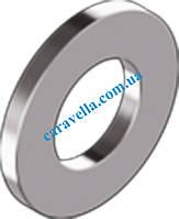 DIN 125 А, шайба плоская без фаски из латуни