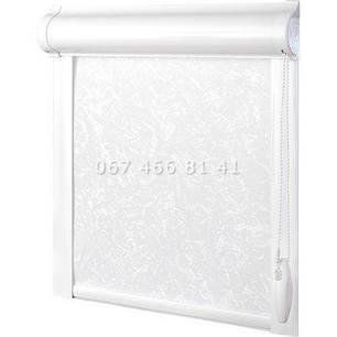 Тканевые ролеты Besta Uni с плоскими направляющими Royal White 808, фото 2