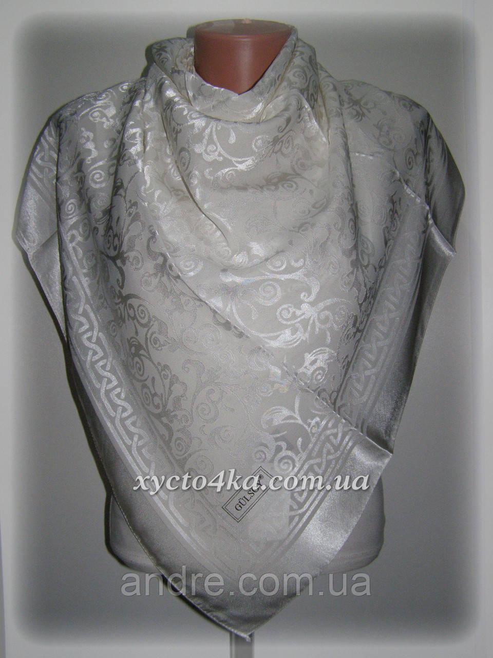 Шелковый платок Афродита, белый или айвори