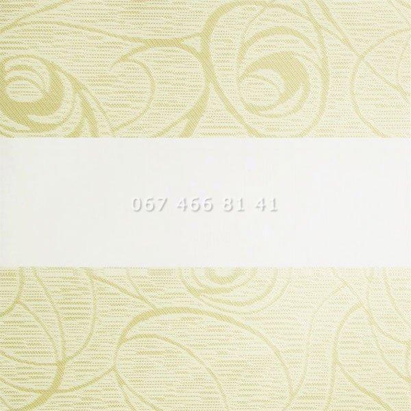 Тканевые ролеты Besta Uni с П-образными направляющими День-Ночь BH Cream 402