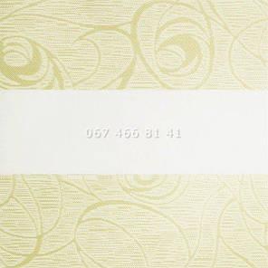 Тканевые ролеты Besta Uni с П-образными направляющими День-Ночь BH Cream 402, фото 2