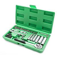Набор инструментов головок INTERTOOL ET-6036 с трещоткой в чемодане