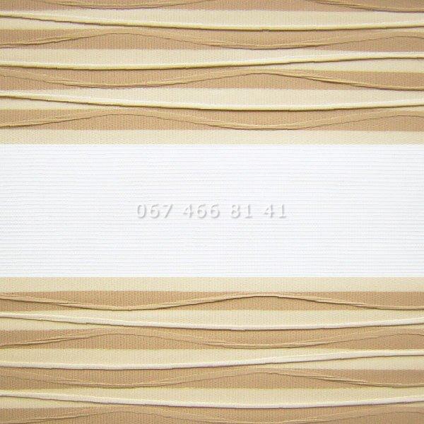 Тканевые ролеты Besta Uni с П-образными направляющими День-Ночь BH Mustard 802