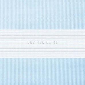 Тканевые ролеты Besta Uni с плоскими направляющими День-Ночь BH Blue 04, фото 2