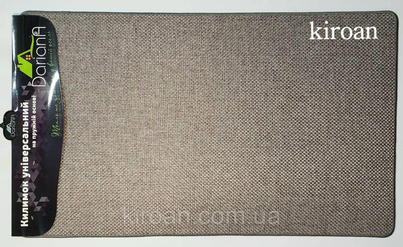 Универсальный коврик из полиестера на вспененной резине 45х75 см (серый)