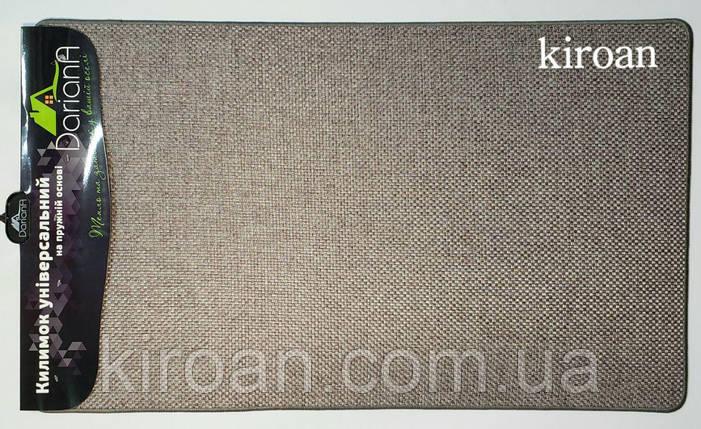 Универсальный коврик из полиестера на вспененной резине 45х75 см (серый), фото 2