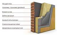 Теплоизоляция на основе каменной ваты  ТехноФас эффект 1200*600*90 мм под штукатурку