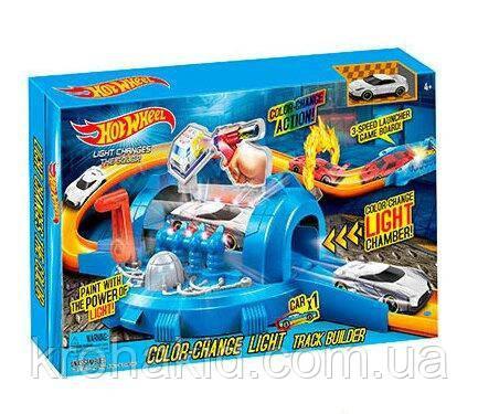 """Игровой набор Hot Wheels 7904 / Трек-запуск """"Hot Wheels"""" со светом / инерционная машинка меняет цвет"""