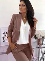 Класичеcский женский костюм (пиджак + брюки) разные цвета, размер с 40 по 60-й