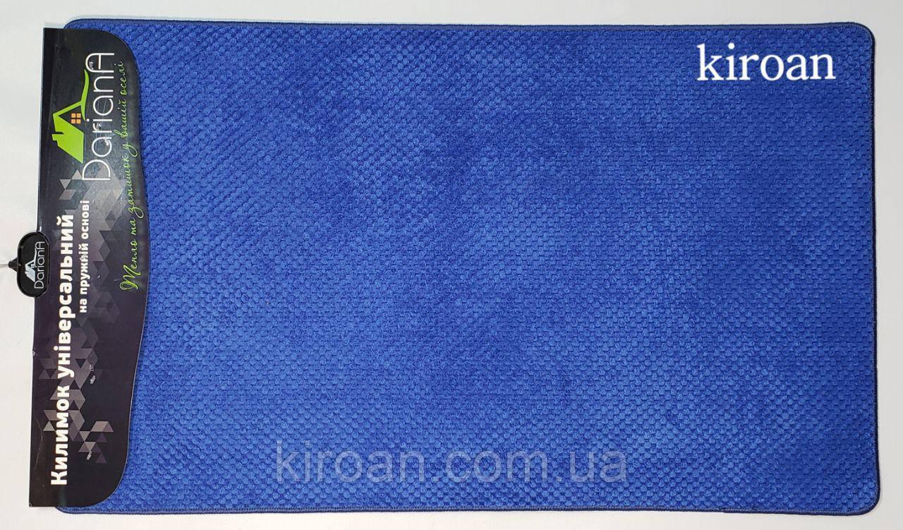 """Універсальний килимок, поліестер на спіненої гумі """"Ананас"""" 45х75см (колір-синій)"""