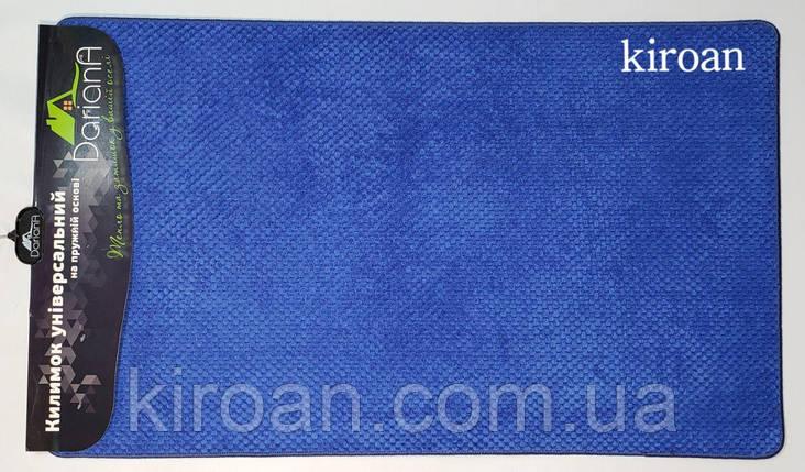 """Універсальний килимок, поліестер на спіненої гумі """"Ананас"""" 45х75см (колір-синій), фото 2"""