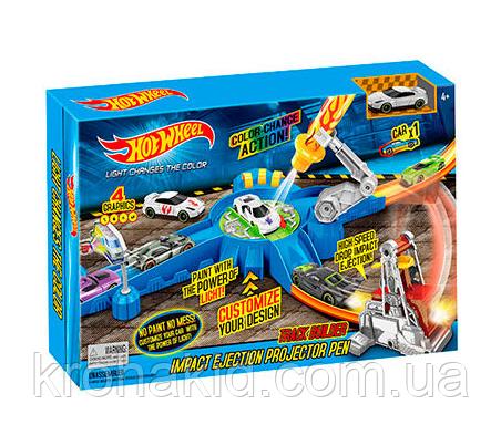 """Ігровий набір Hot Wheels """"Світловий удар"""" 7902 / Трек-запуск """"Hot Wheels"""" зі світлом / машинка змінює колір, фото 2"""