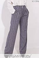Жіночі брюки кльош у великих розмірах в смужку 1mbr195