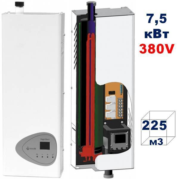 Настенный электрический котёл МАЯК  КОЭ 7,5 кВт,380 V