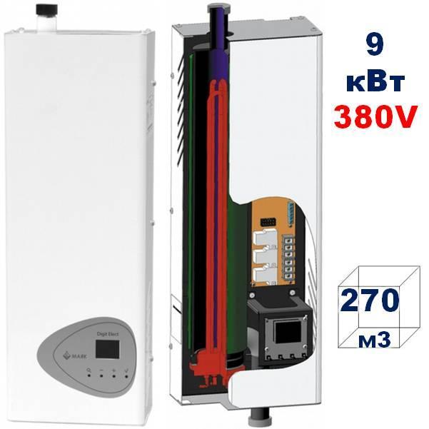 Настенный электрический котёл МАЯК  КОЭ 9 кВт,380 V