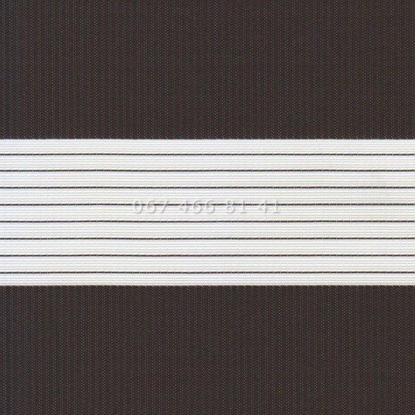 Тканевые ролеты Besta Uni с плоскими направляющими День-Ночь BH Chocolate 1307