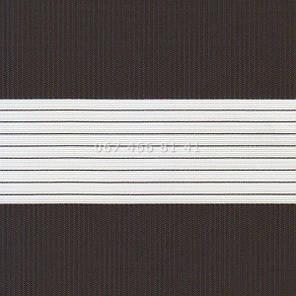 Тканевые ролеты Besta Uni с плоскими направляющими День-Ночь BH Chocolate 1307, фото 2
